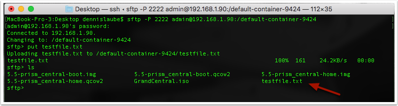 Using SFTP to Transfer Images and Other Files to a Nutanix